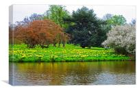 Spring at Hever castle, Canvas Print