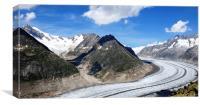 Aletsch Glacier, Canvas Print