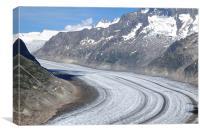 Aletsch Glacier 2, Canvas Print