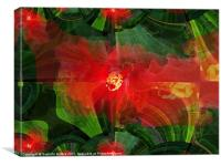 Hibiscus(abstract), Canvas Print