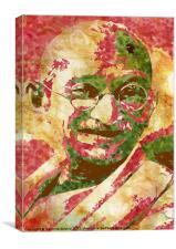 Father of India Mahatma Gandhi, Canvas Print