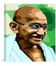 Mahatma Gandhi-Father of India, Canvas Print