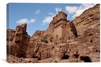 The Uneishu Tomb, Petra, Canvas Print