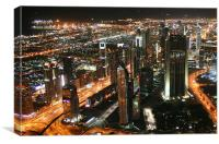 Sheikh Zayed Road, Dubai, Canvas Print