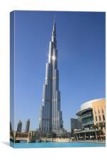 Burj Khalifa, Dubai, Canvas Print