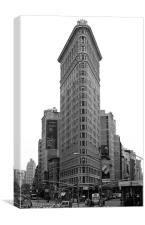 Flatiron Building, New York, Canvas Print
