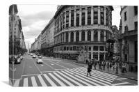 Diagonal Norte, Buenos Aires, Canvas Print