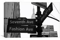 Fashion Avenue, New York, Canvas Print