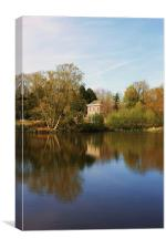 Herstmonceux Lake, Sussex, Canvas Print