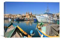 Marsaxlokk Harbour, Malta, Canvas Print
