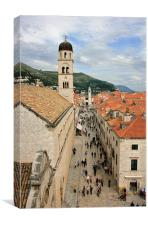 Stradun, Dubrovnik, Canvas Print