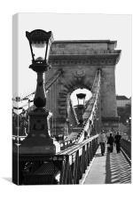 Széchenyi Chain Bridge, Budapest, Canvas Print