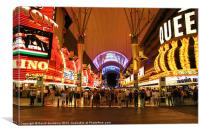 Freemont Street, Las Vegas, Canvas Print