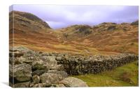 Hardknott Pass, Canvas Print