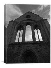 Valle Crucis Abbey II, Canvas Print