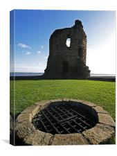 Flint Castle, Canvas Print