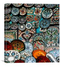 Plates And bowls, Canvas Print