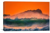 Fistral Sunset, Canvas Print