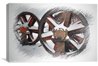 wheels in a blizzard, Canvas Print