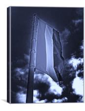 Flag And Night, Canvas Print