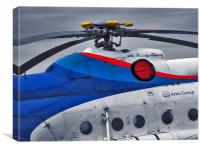 Old Helicopter Details, Canvas Print
