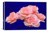 Rose Bunch, Canvas Print