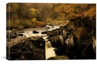 loch lomond water fall, Canvas Print