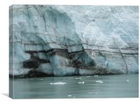 Glacier Layers , Canvas Print