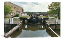 Locks at Bingley, Yorkshire