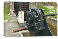 Detail of a canal lock paddle