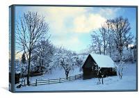 Winter Chalet, Canvas Print