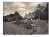 Lutyens country house, Canvas Print