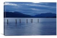 Loch Lomond, Scotland, Dusk, Blue, Canvas Print