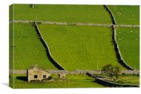 Barn in the Dales, Canvas Print