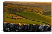 Sundown Barn, Canvas Print