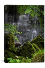 Waterfall rocks, Canvas Print