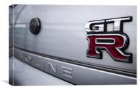 Nissan Skyline GTR Badge, Canvas Print