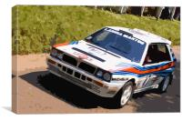 Lancia Delta Integrale Rally Car, Canvas Print