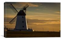 Lytham Windmill at Sunset, Canvas Print