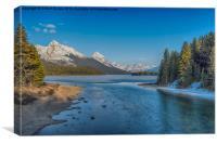The Frozen Lake view , Canvas Print