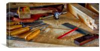 Wood Working at Home, Canvas Print