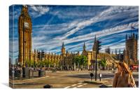 The Palace Of Westminster, Canvas Print