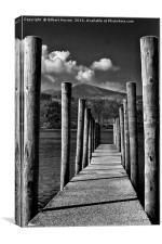The Jetty On Derwent Water, Canvas Print