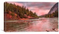Kicking Horse River, Canvas Print