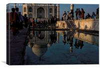 Reflection of the Taj Mahal, Canvas Print