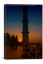 The Taj Mahal at Sunset, Canvas Print