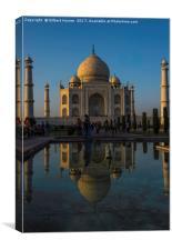 The Taj Mahal at Dusk, Canvas Print