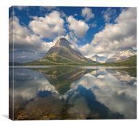 Mount Grinnell Cloud Explosion, Canvas Print