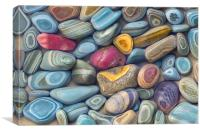 Striated Stones, Lake Josephine, Canvas Print