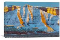 Snow on San Rafael Swell, Canvas Print